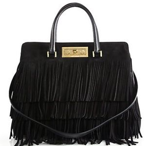 Saint Laurent Trois Clous Medium Fringe Tote